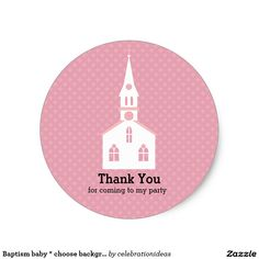 Sold. #Baptism baby #sticker #christening Available in different products. Check more at www.zazzle.com/celebrationideas