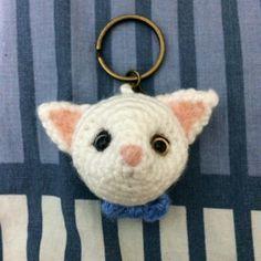 Milky  Crochet Cat Key Chain by MUSHROOMWS on Etsy, $120.00