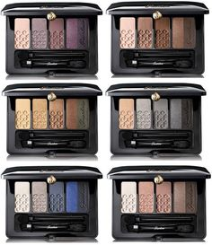 Guerlain Fall 2016 Collection   Guerlain 5-Colors Eyeshadow Palette – New & Permanent   01 Wild Rose (Rose Barbare), 02 Modengmoka, 03 Golden Years, 04 Midnight Time (L'Heure de Nuit), 05 After the Rain (Apres L'Ondee), 06 Smoked Wood (Indian Wood)