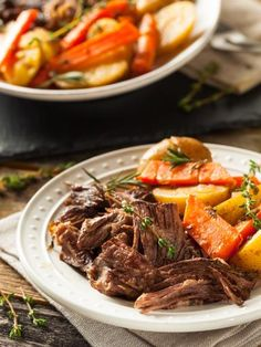 Forget HOURS of cooking, this pot roast is ready FAST! Instant Pot takes pot roast from craving to table in just a few easy steps. Beef Recipes, Healthy Recipes, Healthy Food, Delicious Recipes, Recipies, Cooking Recipes, Tasty, Bourguignon Recipe, Instant Pot Pot Roast