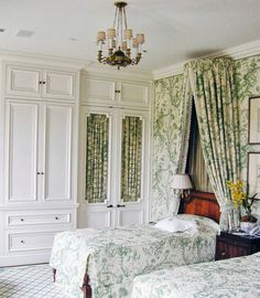 Country Manor charm ~ J. Wilson Fuqua and Associates, Scalamandre Pillement Toile