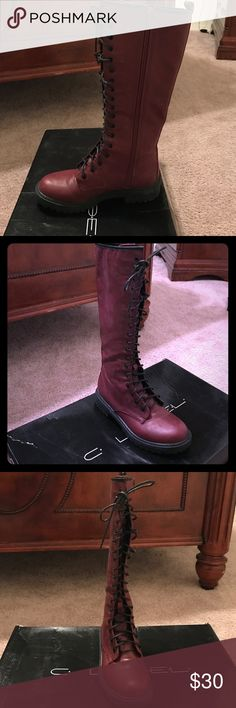 Boots Not Dr martens but really cute and trendy like them. Still in great shape. Shoes Combat & Moto Boots