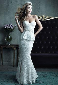 Sexy, Flirtatious Fall Wedding Gowns. #weddings #dresses