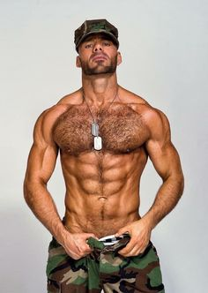 Best Picture For hairy chest tattoo For Your Taste You are looking for something, and it is going to Le Male, Military Men, Military Outfits, Hommes Sexy, Men In Uniform, Muscular Men, Hairy Chest, Shirtless Men, Hairy Men