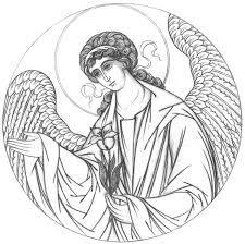 Bildergebnis für прориси икон Byzantine Art, Byzantine Icons, Religious Icons, Religious Art, Stella Art, Christian Artwork, Archangel Gabriel, Catholic Art, Orthodox Icons