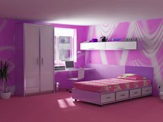 Kids Room Pink Purple Theme Bedrooms Bedroom Decor Themed
