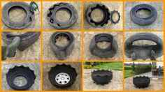 DIY Tire Planter-I LOVED this, try planting an herb garden!