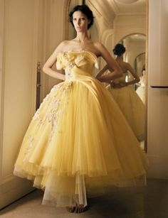 Dior yellow wedding gown