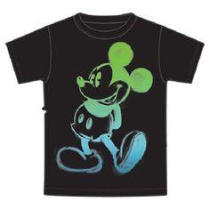 Disney Mickey Mouse Boys Glow T-Shirt, Glow Painted Black