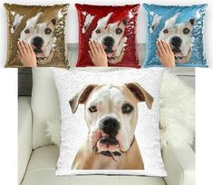 Sequin Mermaid Pillow, Pitbull with funny teeth pillow, Sequin cushion, mermaid case with insert Sequin Pillow, Tooth Pillow, Mermaid Pillow, Mermaid Sequin, Cushions, Pillows, Pitbulls, Funny