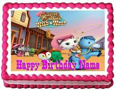 Sheriff Callie cake image topper - Gluten, soy and nut free and Personalizable.