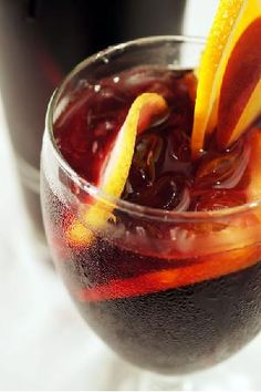 Bloody Red Rum Sangria (spiced rum; Merlot; triple sec liqueur)