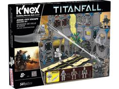 Your mission is clear – descend upon Angel City and escape before enemy forces catch you! With the Angel City Escape building set you can build the futuristic urban city featured in the Titanfall™ game. The set include 500+ pieces plus 4 figures – 2 Pilots and 2 Spectres. Use the features included to run along walls and jump between buildings, but watch out the enemies are prepared with stationary turrets and are ready to strike. Great for builders ages 8+.