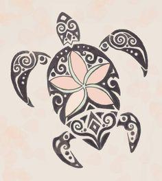 Custom drawn tribal turtle tattoo to put on my calf.. mom daughter tattoo?.