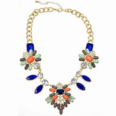 Crystal and Beaded Statement Necklace
