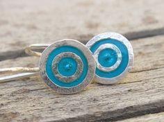 Everyday Small Earrings Silver Earrings Blue by jewelrybymichal, $35.00
