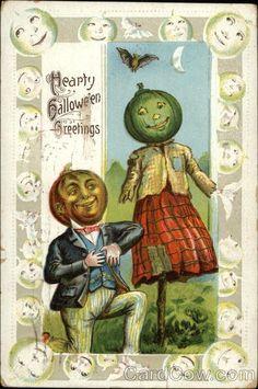 1910 -- Pumpkin dandy woos pumpkin scarecrow girl