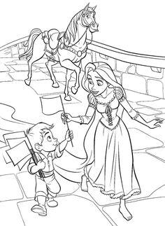 Rapunzel - Disegni da colorare - IMAGIXS