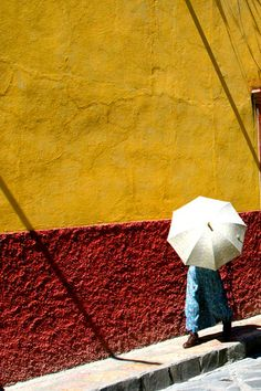 One time in San Miguel de Allende, an umbrella with legs walked right by me.  No one else seemed amazed.