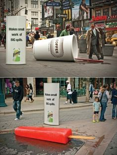 outdoor advertising on pinterest guerilla marketing advertising
