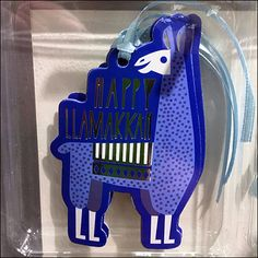 If reindeer are appropriate for Christmas, then this Hanukkah Llamukkah Scan Hook Outfitting is both appropriate and even better alliteration as a product Alliteration, Hanukkah, Target, Retail, Christmas, Blue, Color, Natal, Colour