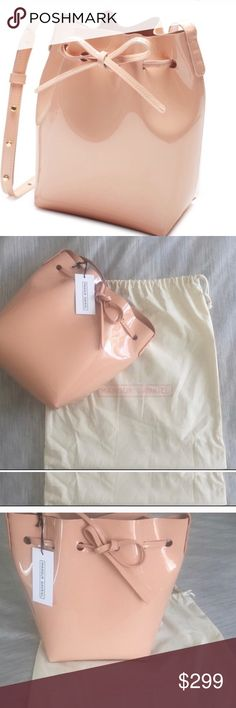 Mansur Gabriel pink bucket bag Brand new with tags! In great condition minus small mark on strap. Patent pink medium size bucket bag. Made in Italy. Mansur Gavriel Bags