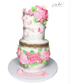 Buttercream Rose design on a naked cake. Click the link below for more information on ordering your celebration cake. Buttercream Roses, Cupcake Wars, Rose Cake, Desserts To Make, Rose Design, Celebration Cakes, Custom Cakes, 50th Anniversary, Food Network Recipes