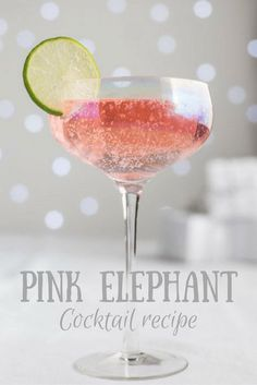 The beautiful Pink Elephant Cocktail Recipe is so simple to mix and tastes amazing! Ingredients 16 to 20 ounces vodka 4 to 5 ounces fresh lime juice 4 to 5 ounces fresh lemonade 8 to 10 ounces grapefruit juice 2 to 2 ounces cranberry juice Lime slices Beste Cocktails, Easy Cocktails, Cocktail Drinks, Simple Cocktail Recipes, Pink Gin Cocktails, Pink Drinks, Cocktail Glass, Drinks With Prosecco, Drink Recipes