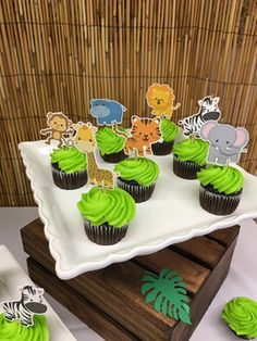 Animal Cupcake toppers made the perfect addition to our table!