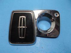 1984-1990 Lincoln Continental trunk emblem 84-90 Key lock cover logo badge-3056  #oemLincoln