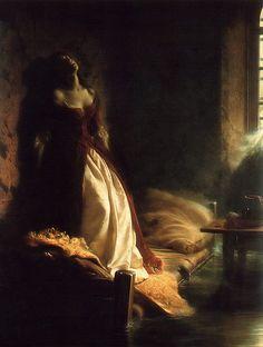 Konstantin Flavitsky, Princess Tarakanova [dying in prison during a flood], 1864 | by kraftgenie
