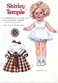 Shirley Temple - go the the website for more outfits and to use the virtual paper doll feature - http://www.allmydolls.com/