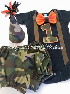 Camouflage Deer Hunting Party first 1st birthday highchair rag