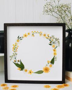 Handmade pressed flowers wreath Wreaths, Frame, Flowers, Handmade, Home Decor, Botany, Homemade Home Decor, Door Wreaths, Floral
