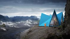 Skýli is the name of a trekking cabin designed by Utopia Arkitekter. The original concept was developed to be easily transported to remote locations along some of the most famous trekking trails on Iceland.
