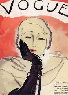 Carl Erickson (1891 - 1958)    Vogue Cover Artist, November 20, 1930