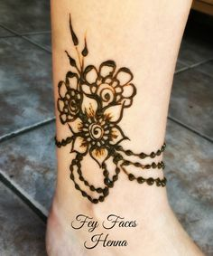 Ankle henna design