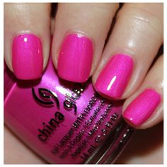 China Glaze Summer Neons Swatches Review ❤ liked on Polyvore featuring nails and beauty