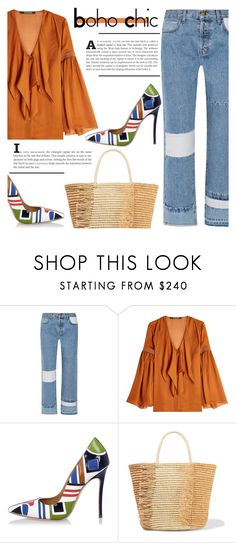"""Boho Chic"" by katerin4e-d ❤ liked on Polyvore featuring Current/Elliott, Roberto Cavalli, Dsquared2 and Sensi Studio"