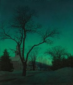 Winter Twilight :Maxfield Parrish
