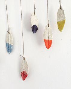 Ceramic Feather Wind Chimes |  www.smallhandsbigart.com