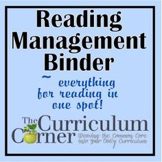 Free Reading Management Binder for the Classroom