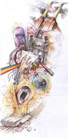 awesome Pink Floyd fan art. #pinkfloyd #art