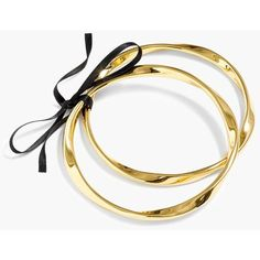 J.Crew Twisted Antiqued-Gold Bangles (Set Of Two) (43 AUD) ❤ liked on Polyvore featuring jewelry, bracelets, gold bracelets bangles, gold bangle bracelet, twisted bangle bracelet, hinged bangle and bracelets bangle