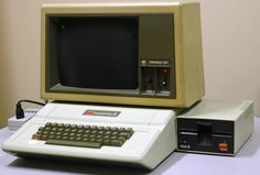 The Apple II was one of the first computer with a color display, and it has the BASIC programming language built-in, so it is ready-to-run right out of the box. The Apple II was probably the first user-friendly system.