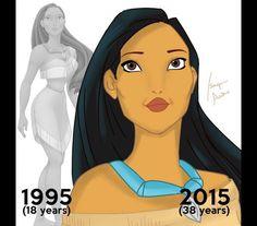 Como seriam as princesas da Disney se tivessem envelhecido