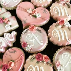 """102 Likes, 9 Comments - @sweettcakes on Instagram: """"Vintage bridal shower sneak peek. #sweettcakes #decoratedcookies #decoratedsugarcookies…"""""""