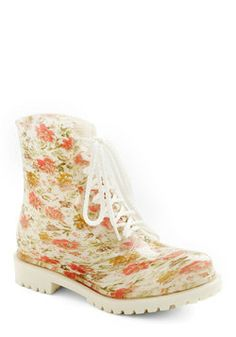 Lost in Spot Rain Boot in Floral, #ModCloth