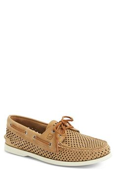 Sperry Top-Sider® 'Authentic Original' Perforated Leather Boat Shoe (Men) available at #Nordstrom