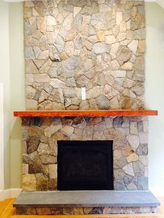 Stone Veneer Fireplace Design covering a gas fireplace with stone to make it look real | re